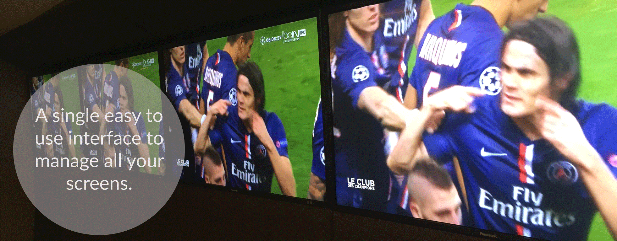 venue psg iptv digital signage video wall stadium