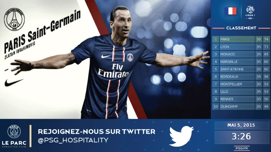 iptv template psg live scores signage adverts split zone screen